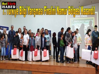7. Türkiye Bilgi Yarışması Finalini Namur Bölgesi Kazandı!