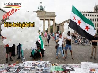 Avrupa'da İdlib'e destek gösterileri