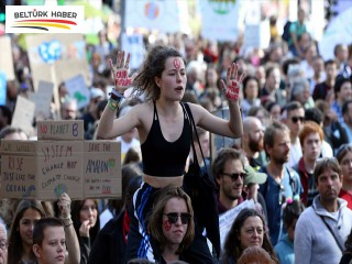 Brüksel'de iklim değişikliği protestosu